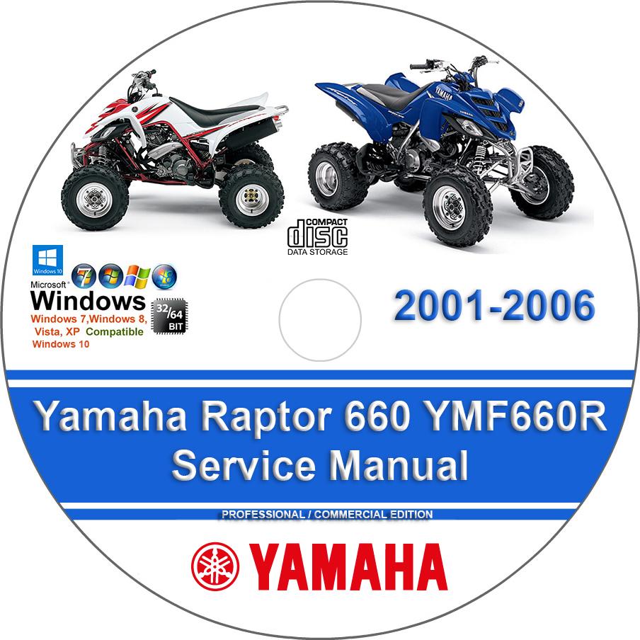 Yamaha Raptor 660 Ymf660r 2001 2006 Service Manual Manuals For You
